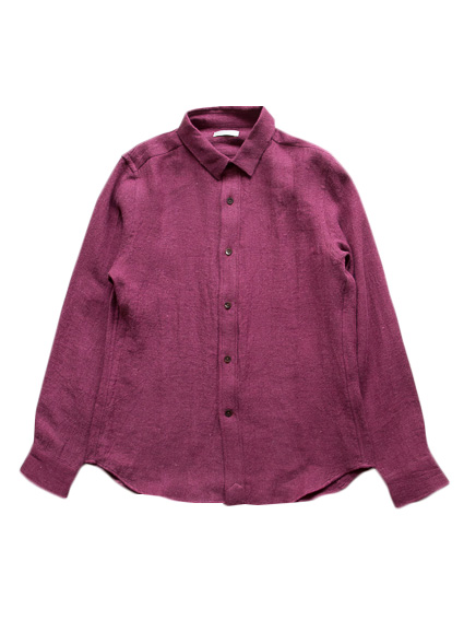Linen Wool Flannel Shirt (Wine)