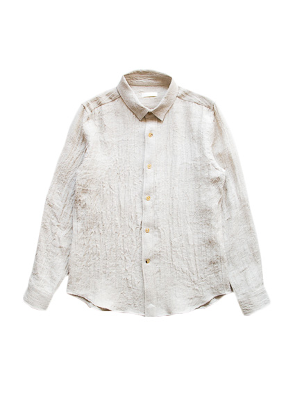 Linen Wool Flannel Shirt (Ecru)