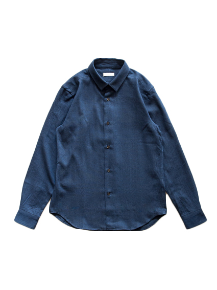 Indigo Dye Double-cloth Shirt (Indigo)
