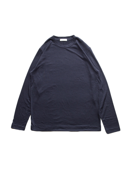 Washable Wool L/S Tee (Dark Navy)