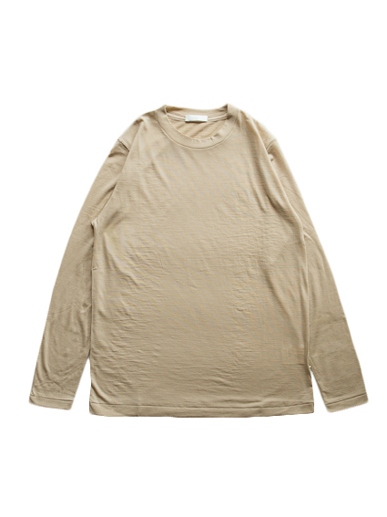 Washable Wool L/S Tee (Beige)