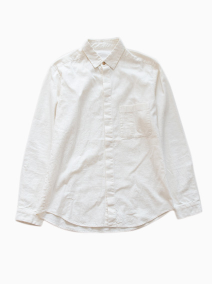 THE HINOKI Linen Cotton Work Shirt (Natural)