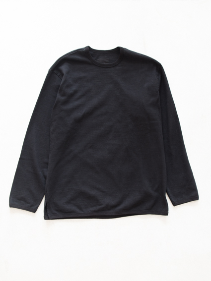 THE HINOKI Cotton Ringer T-Shirt (black)