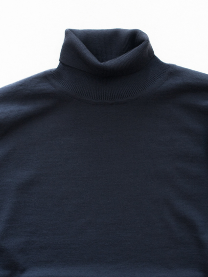 niuhans Wool Turtle Neck Sweater (Navy)