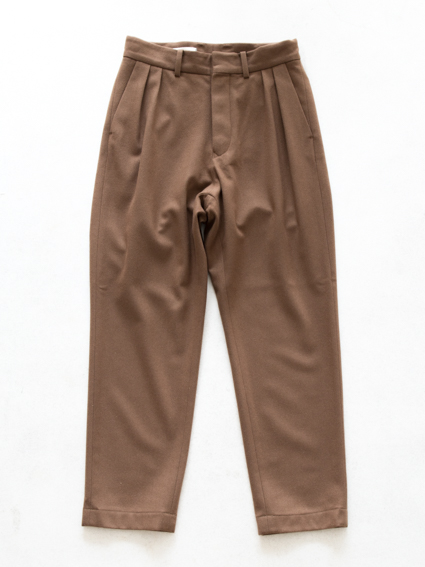 Honor gathering tasmania wool pants (camel)