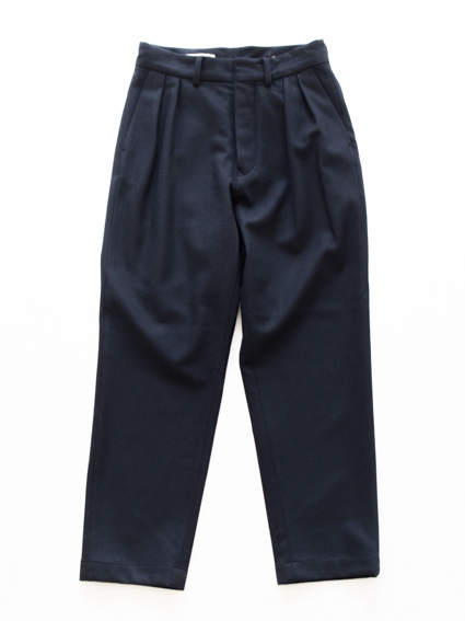 Honor gathering tasmania wool pants (dark navy)