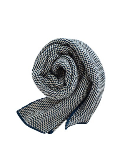 Wool Jacquard Stole (Turquoise)