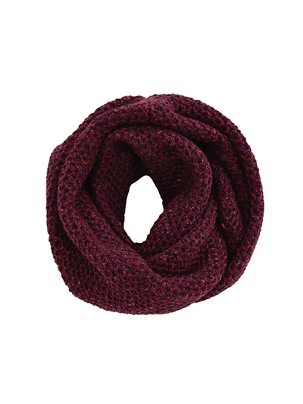 Wool Cashmere Snood (Burgundy)