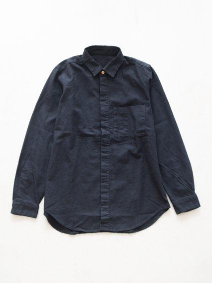 THE HINOKI Linen Cotton Work Shirt (Navy)