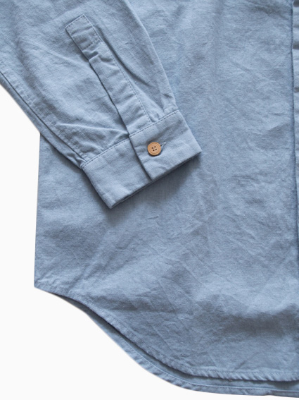 THE HINOKI Linen Cotton Work Shirt (Saxe)