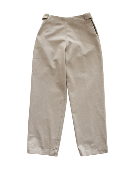 THE HINOKI Organic Cotton Easy Pants (Beige)