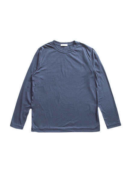 Cotton Cashmere L/S Tee (Navy)
