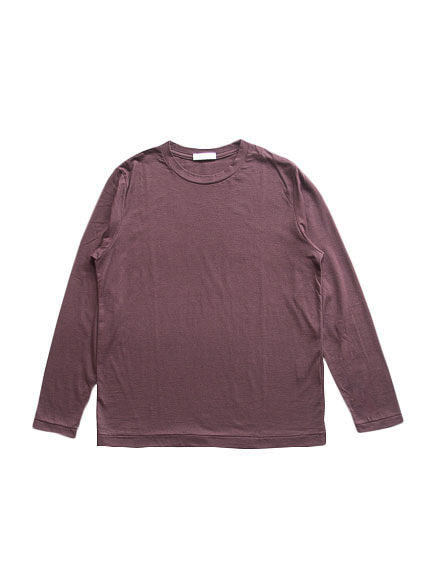 Cotton Cashmere L/S Tee (Brown)