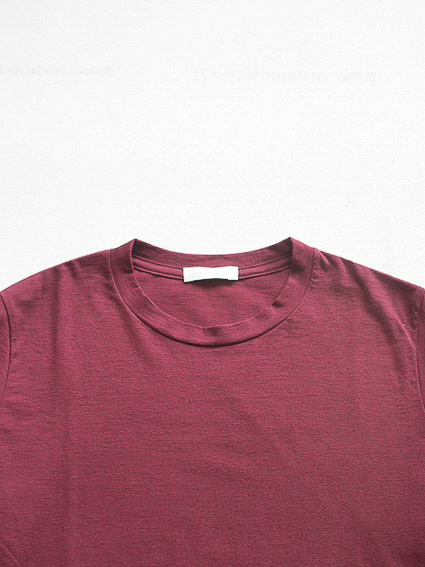 Cotton Cashmere L/S Tee (Burgundy)