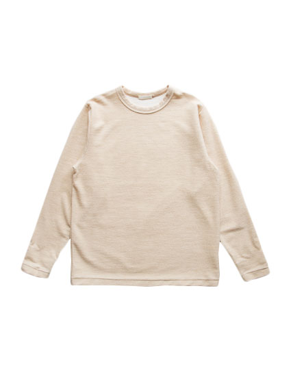 Cotton Cashmere Sweat Shirt (Ivory)