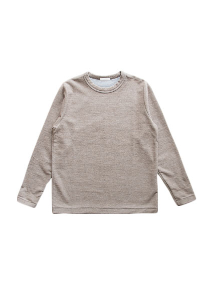 Cotton Cashmere Sweat Shirt (Brown)