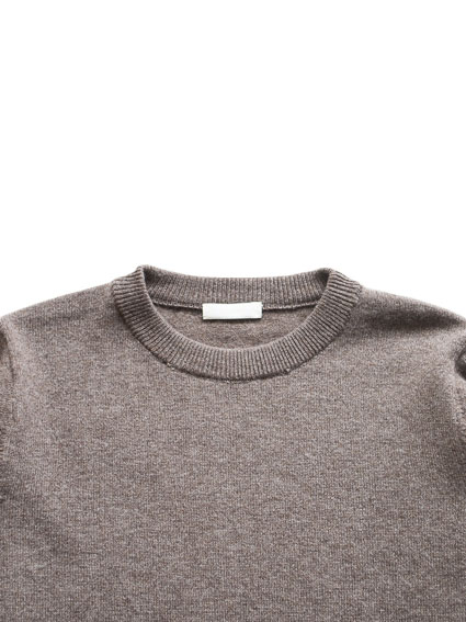 Merino Wool Elbow Patch Sweater (D.Brown)
