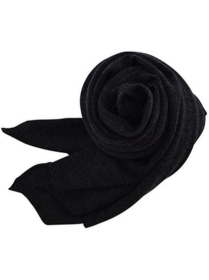 Cashmere High Gauge Plain Stall (Charcoal Gray)