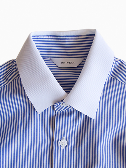 OH WELL Grosgrain Stripe Shirt(WH/BL)