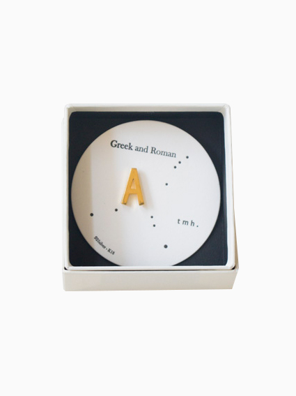tmh. Greek and Roman font tiny pin Series(A)