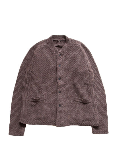 Lamb Wool Knit Cardigan (Brown)
