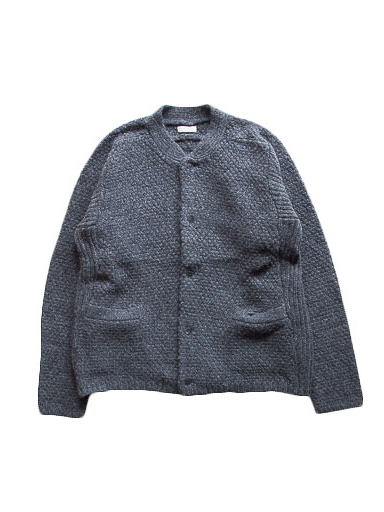 Lamb Wool Knit Cardigan (D.Gray)
