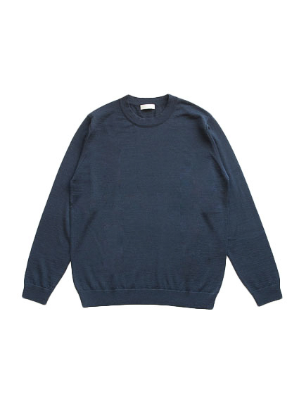 Fine Gauge Wool Sweater (Navy)