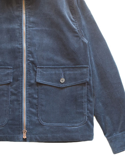 Corduroy Zip-up Jacket (D.Navy)