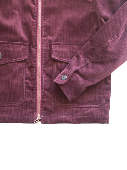 Corduroy Zip-up Jacket (Bordeaux)