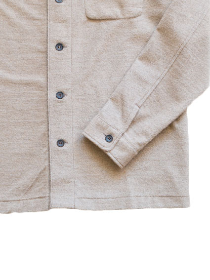 Cotton Cashmere Sweat Shirt Jacket (Brown)
