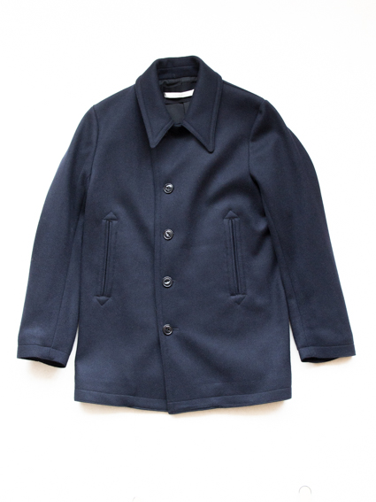 Honor gathering knit melton coat (d.navy)