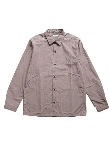 Cotton Boil Round Collar Shirt (Black)