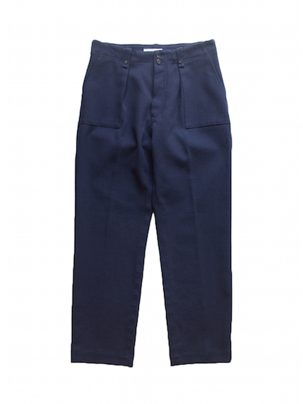 1Tuck tilt Baker Pants (Navy Blue)