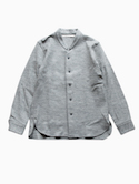 Honor gathering mix wool  knit shirts (light gray)