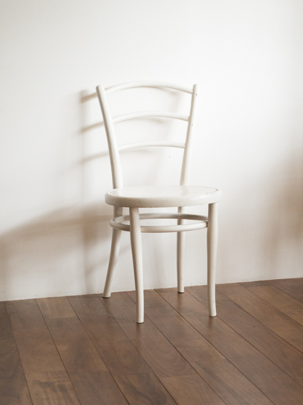 Bent Wood Chair White (England)