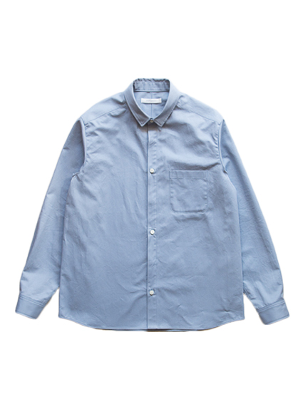 1/2 Fly Front Shirt (Smoky Blue)