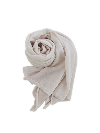 Cashmere High Gauge Plain Stall (Shell White)