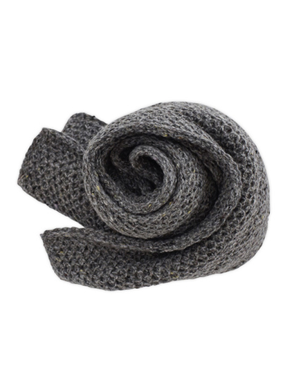 Wool Cashmere Muffler (Rock Grey)