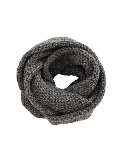 Wool Cashmere Snood (Rock grey)