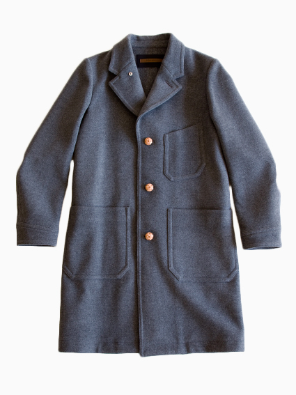 Honor gathering tasmania wool melton coat (gray)