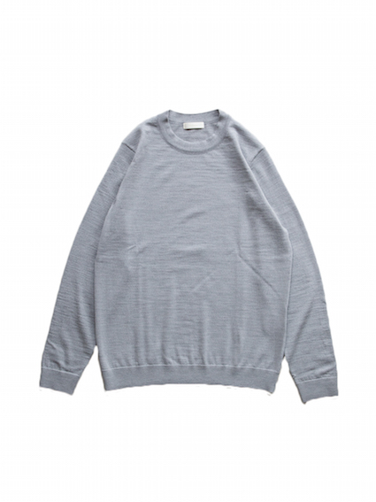 Wool Elbow Patch Sweater (L.Grey)