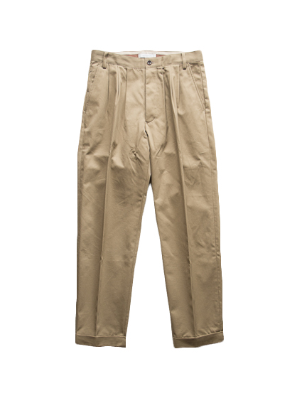 3Tuck WP Trousers (Khaki Beige)
