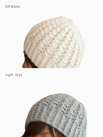 yourwear Alpaca Knit Cap (Light Gray)