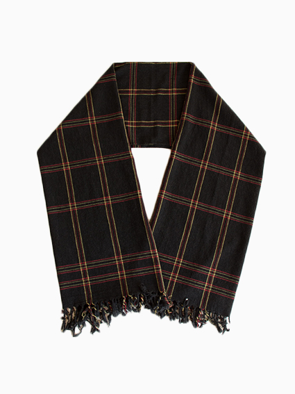 Honor gathering Fine Wool Stole (Black)
