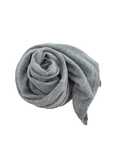 Baby Alpaca Stole (Light Gray)