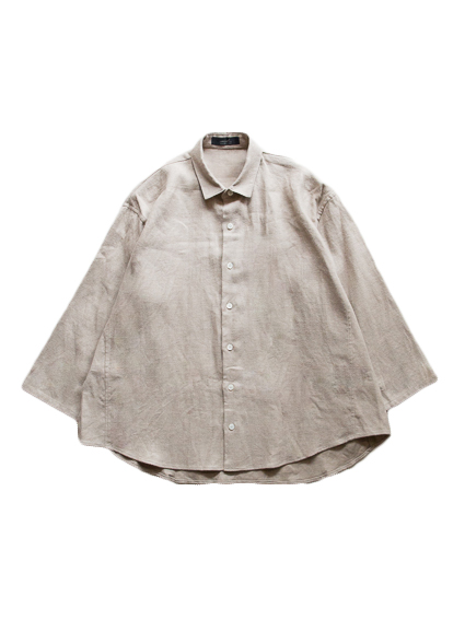 semoh Raised Linen Wide Shirts (GREY)