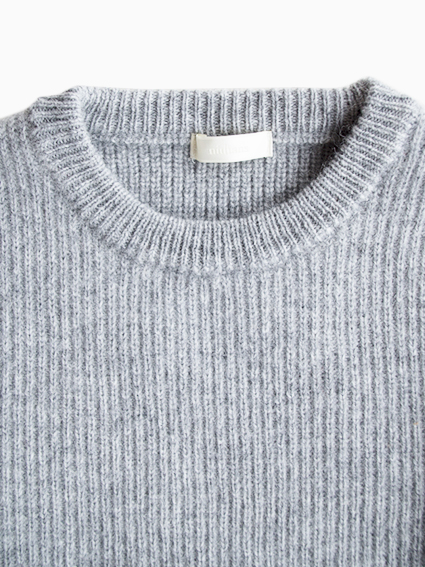 別注 niuhans Low Gauge Sweater (Light Grey)
