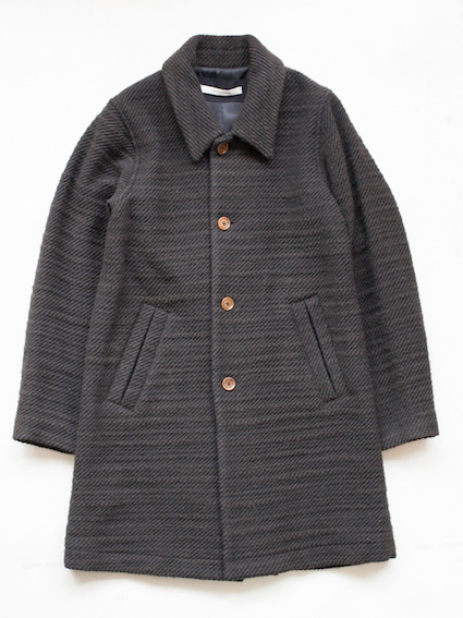 Honor gathering Slab Tweed Coat (d.khaki)