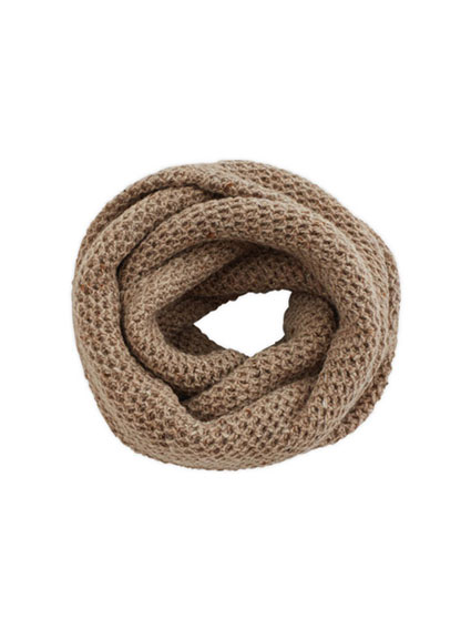 Wool Cashmere Snood (Oatmeal)