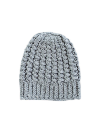 Alpaca Knit Cap (Light Gray)